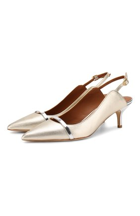 Женская кожаные туфли marion MALONE SOULIERS золотого цвета, арт. MARI0N MS 45-2 | Фото 1