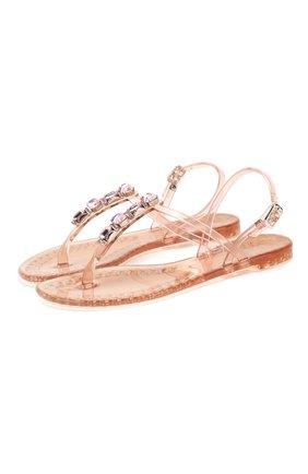 Женские резиновые сандалии CASADEI розового цвета, арт. 2Y010D0101BEACH3404 | Фото 1