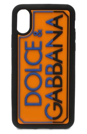 Мужской чехол для iphone x/xs DOLCE & GABBANA оранжевого цвета, арт. BI2418/AJ980 | Фото 1