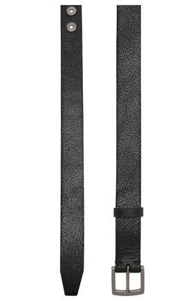 Женский кожаный ремень BRUNELLO CUCINELLI черного цвета, арт. M0BRUC31E   Фото 2 (Материал: Кожа)