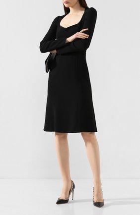 Женская кожаные туфли valentino garavani rockstud VALENTINO черного цвета, арт. TW2S0057/V0D | Фото 2