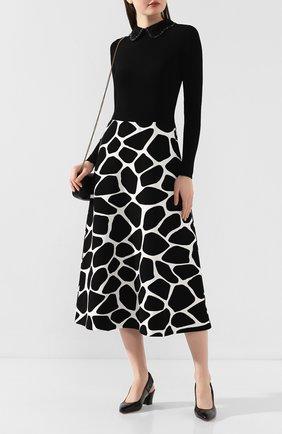 Женская кожаные туфли SANTONI черного цвета, арт. WDHC58569HI2CIZTN01 | Фото 2