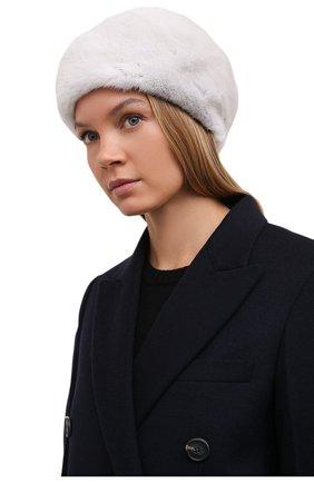 Женский берет из меха норки KUSSENKOVV серого цвета, арт. 011600008023   Фото 2 (Материал: Натуральный мех)