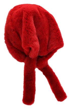 Женский косынка из меха норки FURLAND красного цвета, арт. 0160800110208600676 | Фото 2