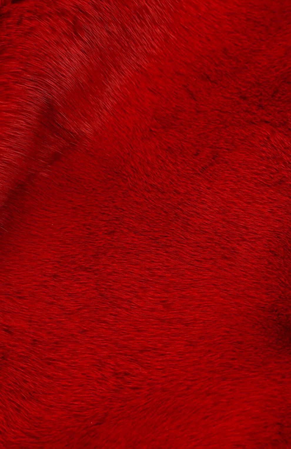 Женский косынка из меха норки FURLAND красного цвета, арт. 0160800110208600676 | Фото 3