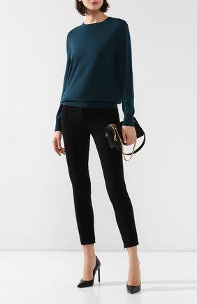 Женская шерстяной пуловер ST. JOHN зеленого цвета, арт. K51X042 | Фото 2