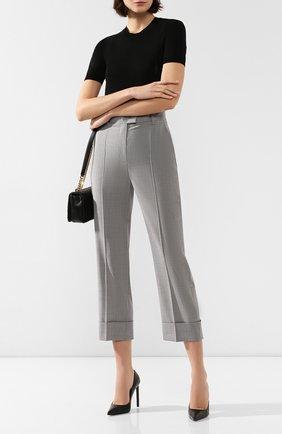 Женские шерстяные брюки ESCADA SPORT светло-серого цвета, арт. 5032454 | Фото 2