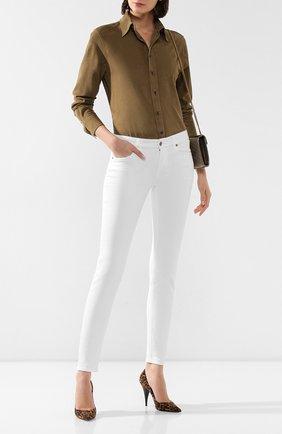 Женская замшевая рубашка RALPH LAUREN зеленого цвета, арт. 290794691 | Фото 2