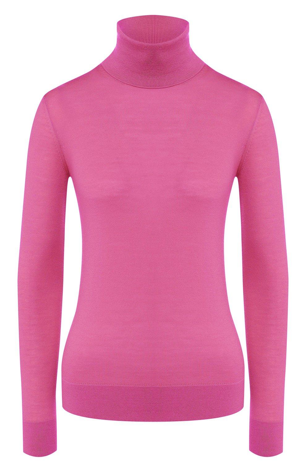 Женская кашемировая водолазка RALPH LAUREN розового цвета, арт. 290615195 | Фото 1