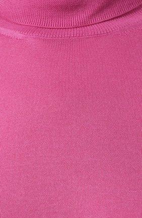 Женская кашемировая водолазка RALPH LAUREN розового цвета, арт. 290615195 | Фото 5