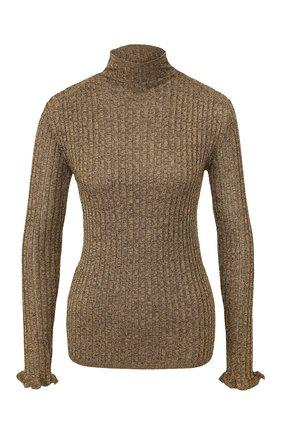 Женская водолазка POLO RALPH LAUREN бронзового цвета, арт. 211784120 | Фото 1 (Рукава: Длинные; Материал внешний: Синтетический материал, Вискоза; Длина (для топов): Стандартные; Женское Кросс-КТ: Водолазка-одежда; Статус проверки: Проверена категория)
