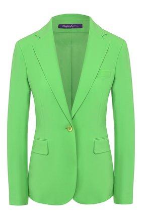 Женский шерстяной жакет RALPH LAUREN зеленого цвета, арт. 290788647 | Фото 1