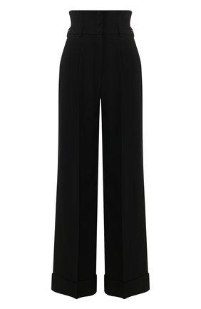 Женские брюки с отворотами DOLCE & GABBANA черного цвета, арт. FTBQIT/FURDV | Фото 1
