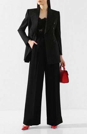 Женские брюки с отворотами DOLCE & GABBANA черного цвета, арт. FTBQIT/FURDV | Фото 2