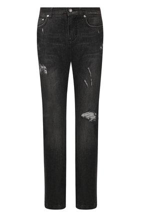 Женские джинсы с потертостями DOLCE & GABBANA темно-серого цвета, арт. FTAIAD/G899D | Фото 1