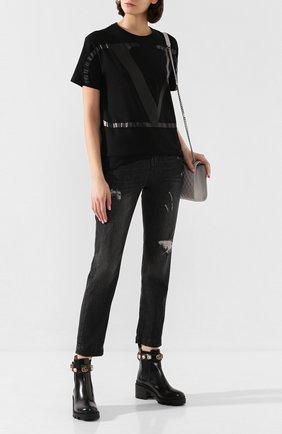 Женские джинсы с потертостями DOLCE & GABBANA темно-серого цвета, арт. FTAIAD/G899D | Фото 2