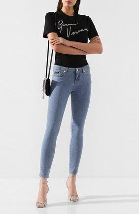 Женские джинсы DOLCE & GABBANA темно-синего цвета, арт. FTAH7D/G899P | Фото 2