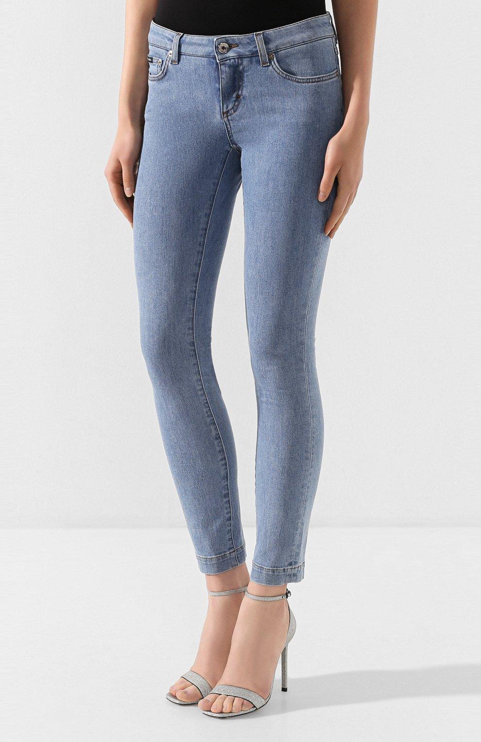Женские джинсы DOLCE & GABBANA темно-синего цвета, арт. FTAH7D/G899P | Фото 3