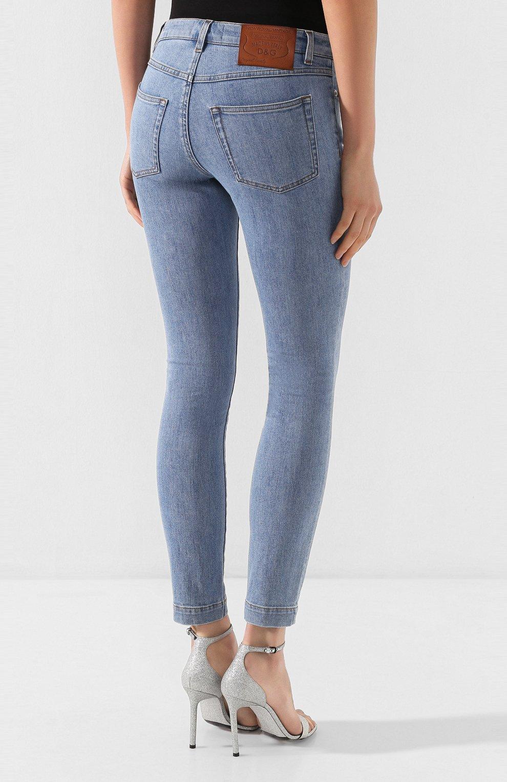 Женские джинсы DOLCE & GABBANA темно-синего цвета, арт. FTAH7D/G899P | Фото 4