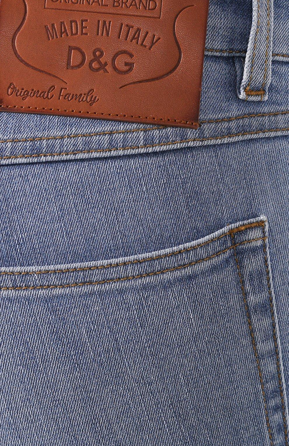 Женские джинсы DOLCE & GABBANA темно-синего цвета, арт. FTAH7D/G899P | Фото 5