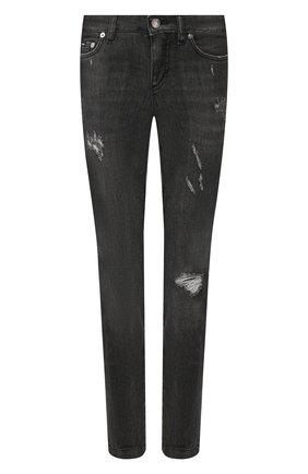 Женские джинсы с потертостями DOLCE & GABBANA темно-серого цвета, арт. FTAH7D/G899D | Фото 1