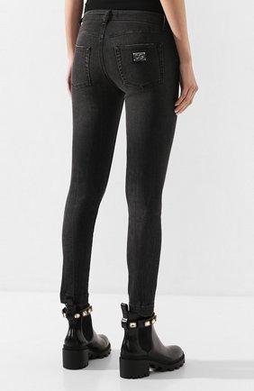 Женские джинсы с потертостями DOLCE & GABBANA темно-серого цвета, арт. FTAH7D/G899D | Фото 4