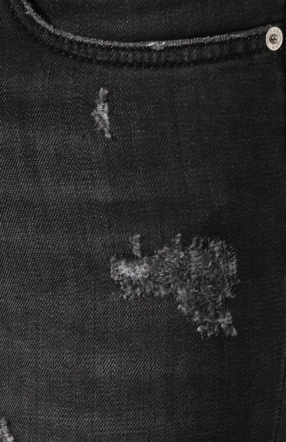Женские джинсы с потертостями DOLCE & GABBANA темно-серого цвета, арт. FTAH7D/G899D | Фото 5
