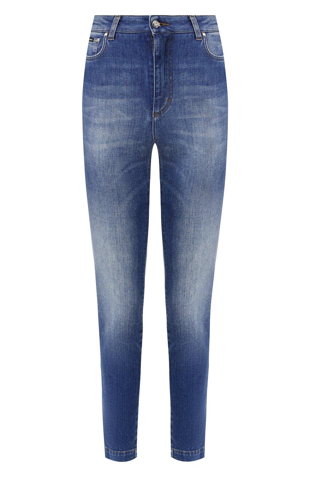 Женские джинсы DOLCE & GABBANA темно-синего цвета, арт. FTAH6D/G8990   Фото 1