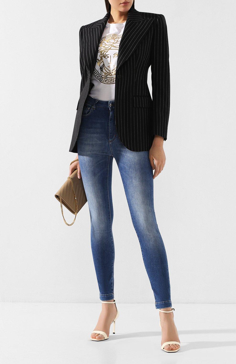 Женские джинсы DOLCE & GABBANA темно-синего цвета, арт. FTAH6D/G8990   Фото 2
