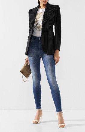 Женские джинсы DOLCE & GABBANA темно-синего цвета, арт. FTAH6D/G8990 | Фото 2