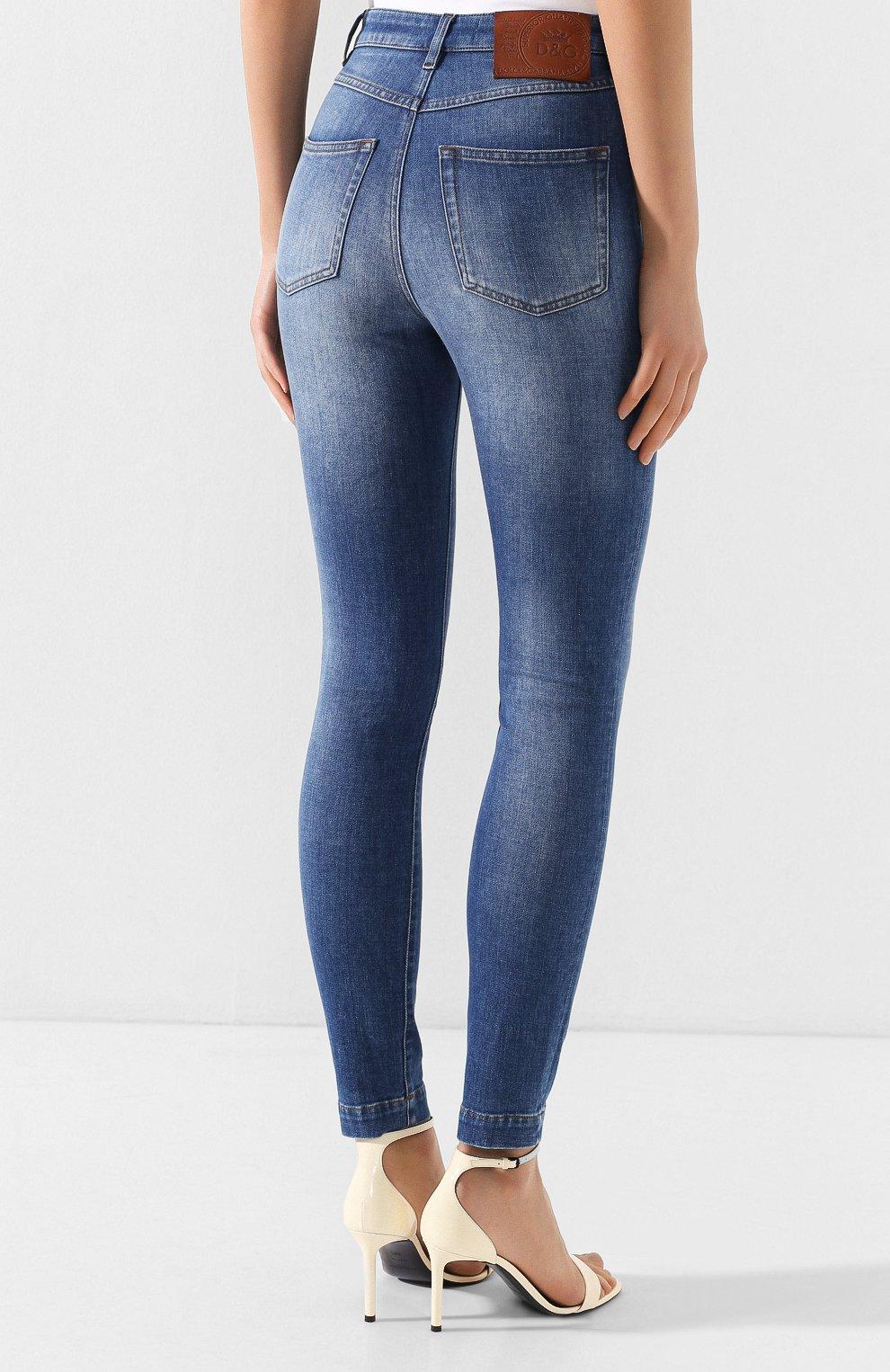 Женские джинсы DOLCE & GABBANA темно-синего цвета, арт. FTAH6D/G8990   Фото 4