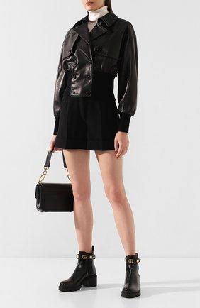 Женский кожаный бомбер DOLCE & GABBANA черного цвета, арт. F9H64L/HULD8 | Фото 2