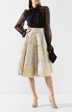 Женская юбка DOLCE & GABBANA золотого цвета, арт. F4BS6T/HJMJS | Фото 2