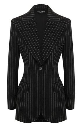 Женский шерстяной жакет DOLCE & GABBANA серого цвета, арт. F29DVT/FR2XI | Фото 1