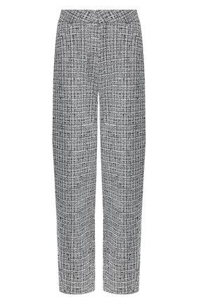 Женские брюки из смеси хлопка и льна TOTÊME черно-белого цвета, арт. N0VARA 201-209-702   Фото 1