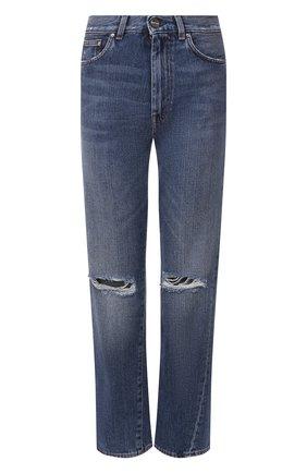 Женские джинсы с потертостями TOTÊME голубого цвета, арт. 0RIGINAL RIPPED DENIM 32 195-232-740 | Фото 1