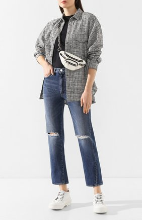 Женские джинсы с потертостями TOTÊME голубого цвета, арт. 0RIGINAL RIPPED DENIM 32 195-232-740 | Фото 2