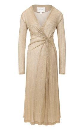 Женское платье GALVAN LONDON золотого цвета, арт. 1809 PLISSE DRESS | Фото 1