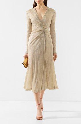 Женское платье GALVAN LONDON золотого цвета, арт. 1809 PLISSE DRESS | Фото 2