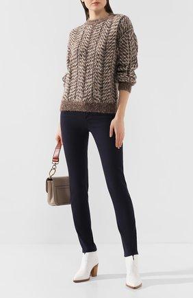 Женские джинсы LORO PIANA темно-синего цвета, арт. FAI9572 | Фото 2