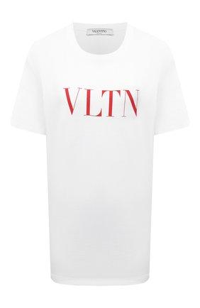 Женская хлопковая футболка VALENTINO белого цвета, арт. TB3MG07D3V6 | Фото 1