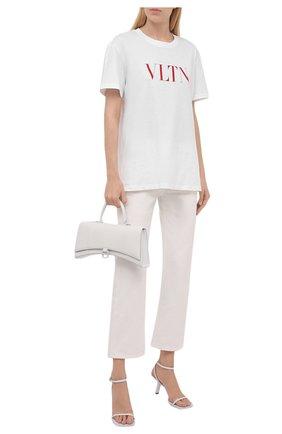 Женская хлопковая футболка VALENTINO белого цвета, арт. TB3MG07D3V6 | Фото 2