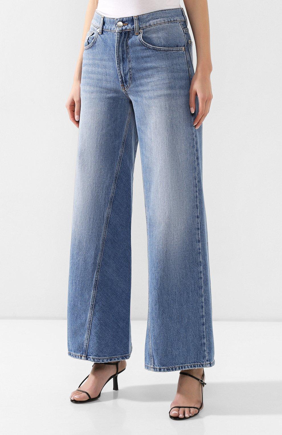 Женские джинсы GANNI голубого цвета, арт. F3633 | Фото 3