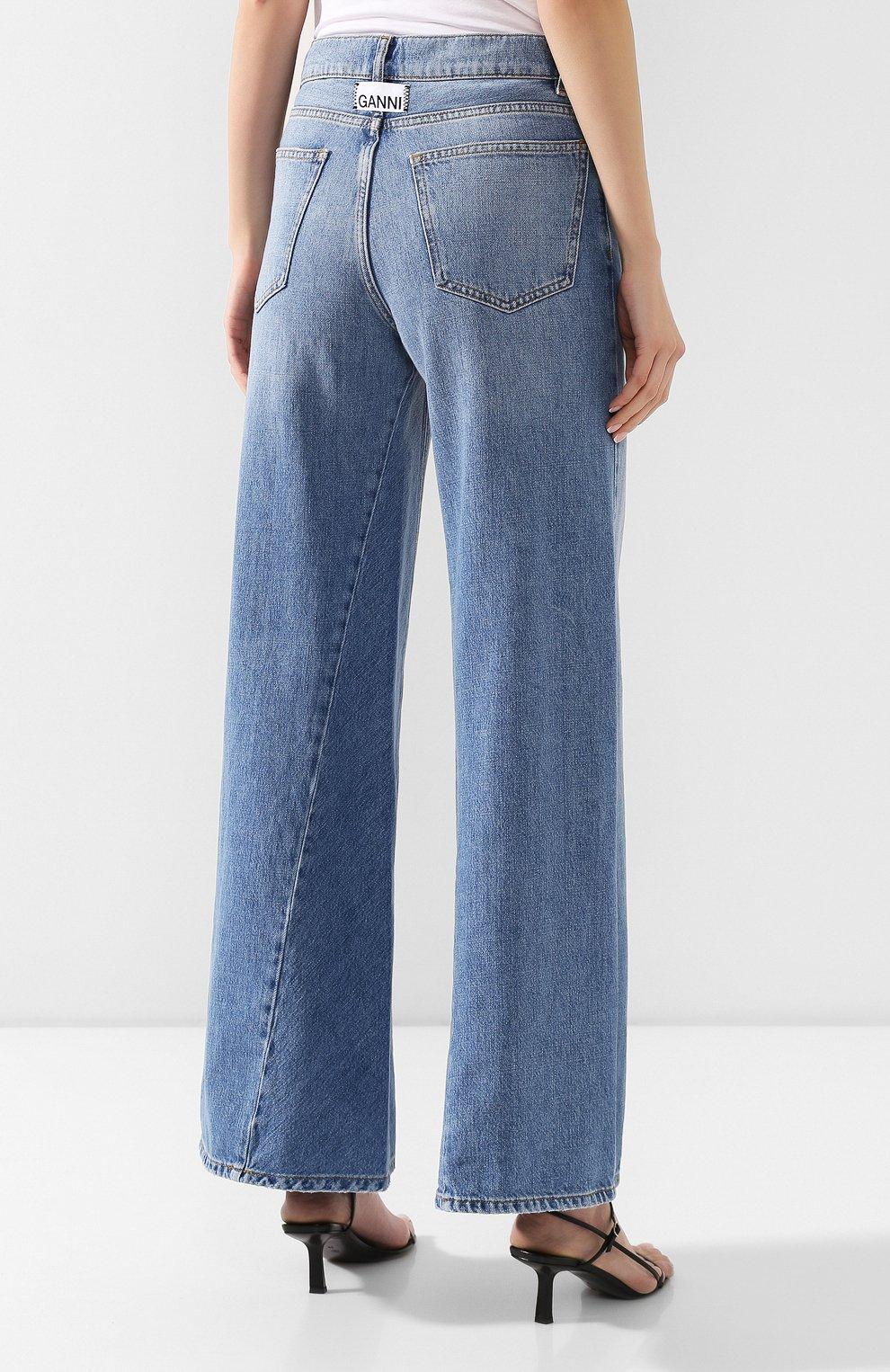 Женские джинсы GANNI голубого цвета, арт. F3633 | Фото 4