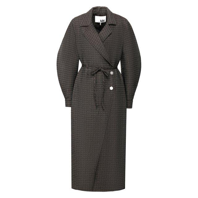 Пальто с поясом Ganni — Пальто с поясом