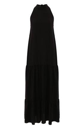 Женское шелковое платье FISICO черного цвета, арт. P0/F/FV47H0 | Фото 1