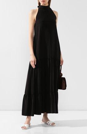 Женское шелковое платье FISICO черного цвета, арт. P0/F/FV47H0 | Фото 2