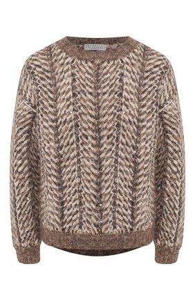 Женский свитер BRUNELLO CUCINELLI коричневого цвета, арт. M9E393010 | Фото 1