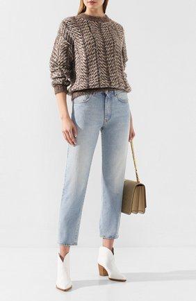 Женский свитер BRUNELLO CUCINELLI коричневого цвета, арт. M9E393010 | Фото 2
