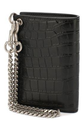 Мужской кожаное портмоне SAINT LAURENT черного цвета, арт. 584104/DZEDE | Фото 2